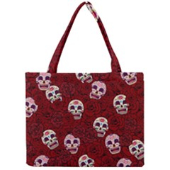 Funny Skull Rosebed Mini Tote Bag