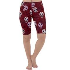 Funny Skull Rosebed Cropped Leggings