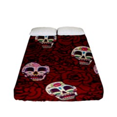 Funny Skull Rosebed Fitted Sheet (Full/ Double Size)