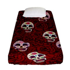 Funny Skull Rosebed Fitted Sheet (Single Size)