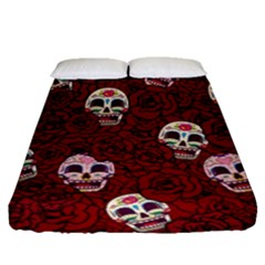 Funny Skull Rosebed Fitted Sheet (Queen Size)