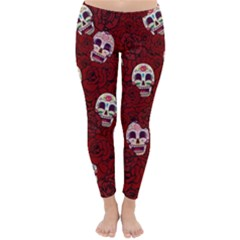 Funny Skull Rosebed Classic Winter Leggings