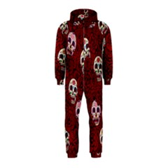 Funny Skull Rosebed Hooded Jumpsuit (Kids)