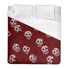 Funny Skull Rosebed Duvet Cover (Full/ Double Size)