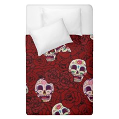 Funny Skull Rosebed Duvet Cover Double Side (Single Size)