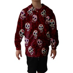 Funny Skull Rosebed Hooded Wind Breaker (Kids)