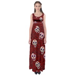 Funny Skull Rosebed Empire Waist Maxi Dress