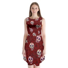 Funny Skull Rosebed Sleeveless Chiffon Dress