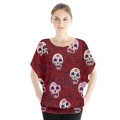 Funny Skull Rosebed Blouse