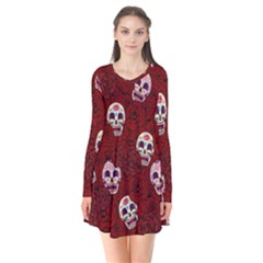Funny Skull Rosebed Flare Dress