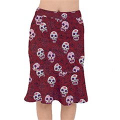 Funny Skull Rosebed Mermaid Skirt