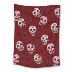Funny Skull Rosebed Medium Tapestry