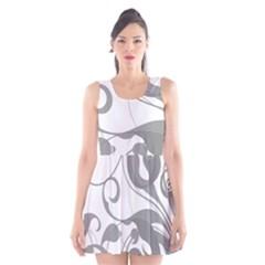 Floral pattern Scoop Neck Skater Dress