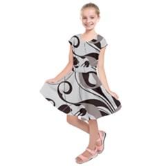 Floral pattern Kids  Short Sleeve Dress