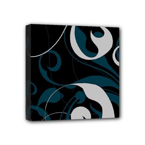 Floral pattern Mini Canvas 4  x 4