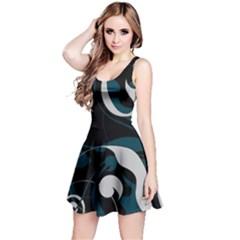 Floral pattern Reversible Sleeveless Dress