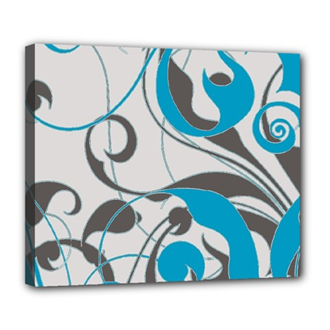 Floral pattern Deluxe Canvas 24  x 20