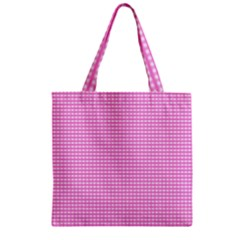 Color Zipper Grocery Tote Bag