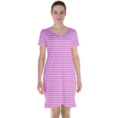 Color Short Sleeve Nightdress