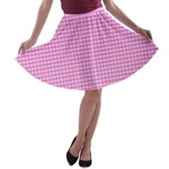 Color A-line Skater Skirt