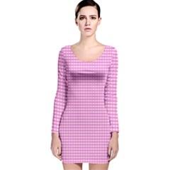 Color Long Sleeve Velvet Bodycon Dress