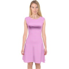 Color Capsleeve Midi Dress