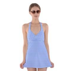 Color Halter Swimsuit Dress