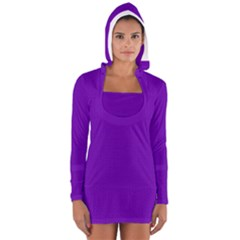 Color Women s Long Sleeve Hooded T-shirt
