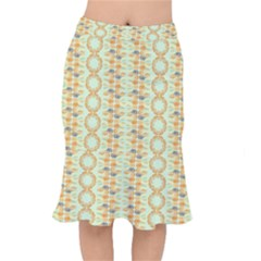 Ethnic Orange Pattern Mermaid Skirt