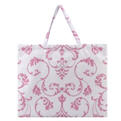 Ornament  Zipper Large Tote Bag