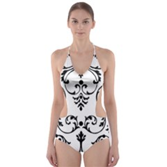 Ornament  Cut-Out One Piece Swimsuit
