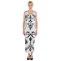 Ornament  Fitted Maxi Dress