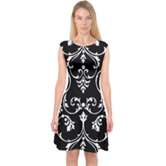 Ornament  Capsleeve Midi Dress