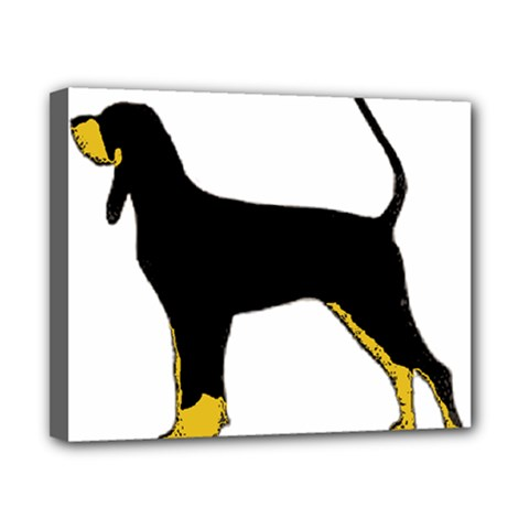 Black And Tan Coonhound Silo Color Canvas 10  x 8
