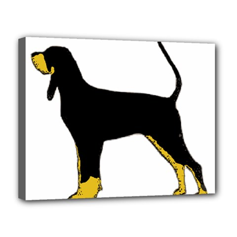 Black And Tan Coonhound Silo Color Canvas 14  x 11