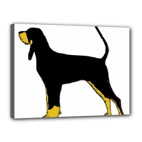 Black And Tan Coonhound Silo Color Canvas 16  x 12