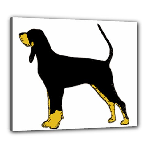 Black And Tan Coonhound Silo Color Canvas 24  x 20