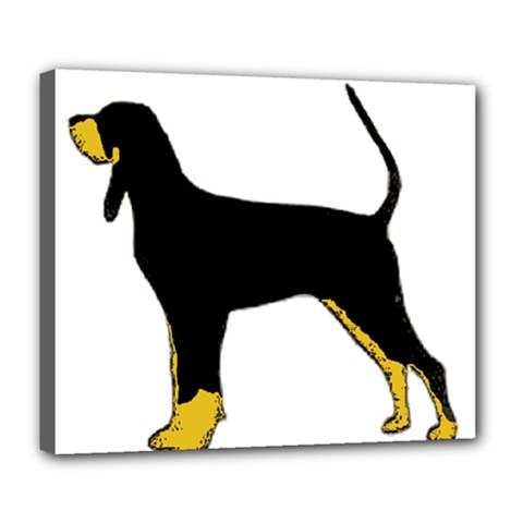 Black And Tan Coonhound Silo Color Deluxe Canvas 24  x 20