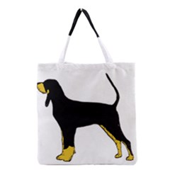 Black And Tan Coonhound Silo Color Grocery Tote Bag