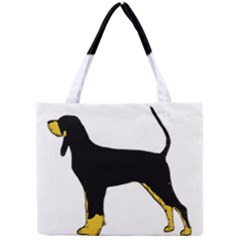 Black And Tan Coonhound Silo Color Mini Tote Bag