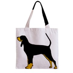 Black And Tan Coonhound Silo Color Zipper Grocery Tote Bag