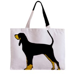 Black And Tan Coonhound Silo Color Zipper Mini Tote Bag