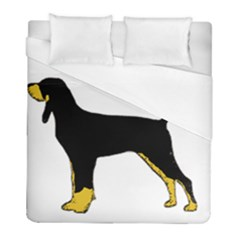 Black And Tan Coonhound Silo Color Duvet Cover (Full/ Double Size)