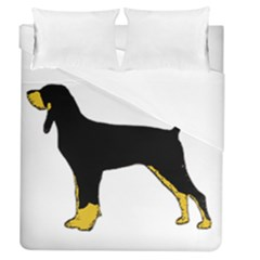 Black And Tan Coonhound Silo Color Duvet Cover (Queen Size)