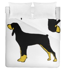 Black And Tan Coonhound Silo Color Duvet Cover Double Side (Queen Size)
