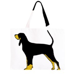 Black And Tan Coonhound Silo Color Large Tote Bag