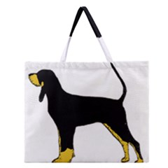 Black And Tan Coonhound Silo Color Zipper Large Tote Bag
