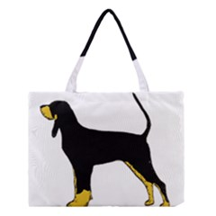 Black And Tan Coonhound Silo Color Medium Tote Bag