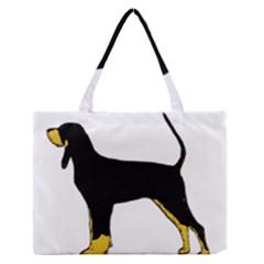 Black And Tan Coonhound Silo Color Medium Zipper Tote Bag