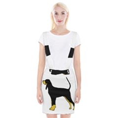Black And Tan Coonhound Silo Color Braces Suspender Skirt